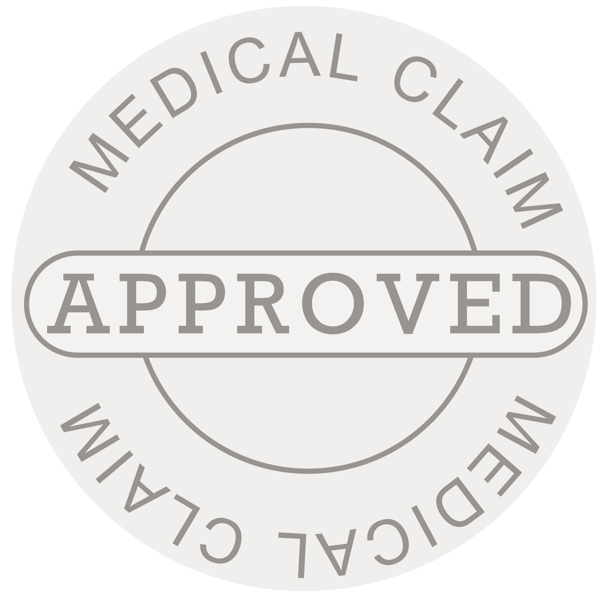 Round Approved Medical Claim Stamp