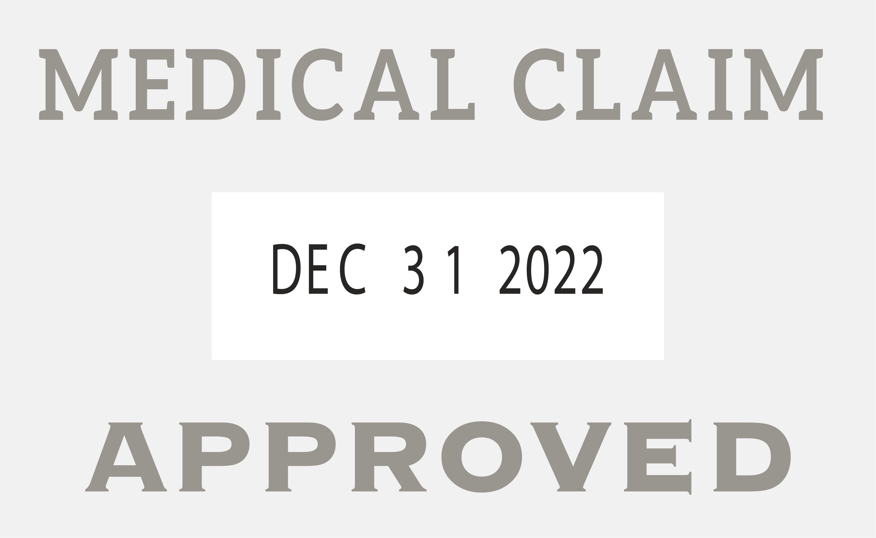 Medical Approved Medical Claim Stamp