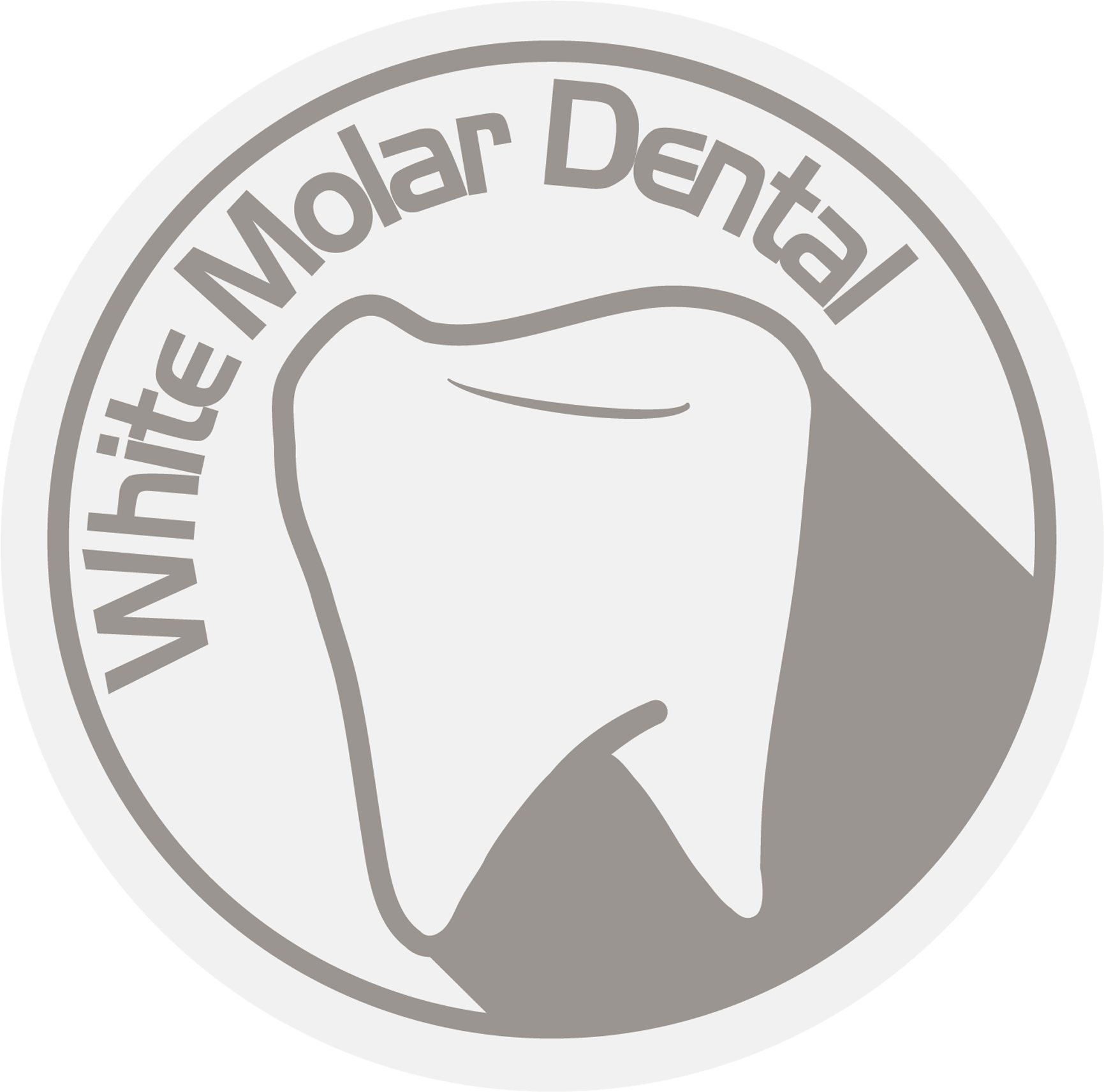 Medical Round White Molar Dental Stamp
