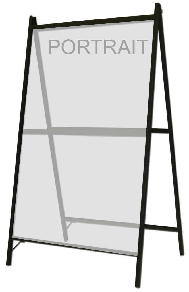 S203 - A-Frame for 1 or 2 signs - A-Frame for 1 or 2 signs
