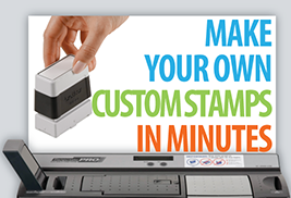 Make your own stamps in-house using our StampCreator PRO